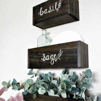 DIY Herb Nesting Boxes